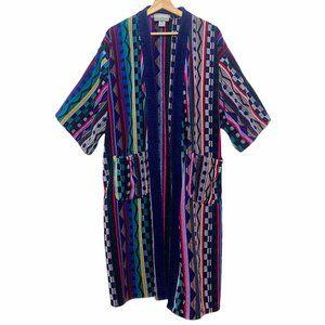 Turkish Towel T.J. Lawford RARE Aztec Robe Terry